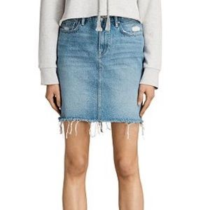 NWT All Saints Kim Denim Mini Skirt